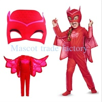 Cute Superhero Masks Cape Set Gekko Owlette Catboy Kids Costume Party Kids Gifts Baby Clothes Outfit