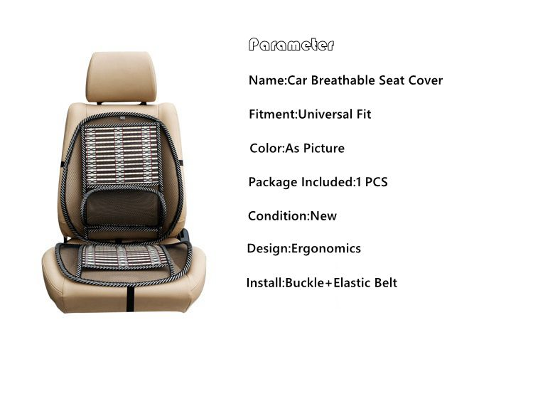 Car Seat Lumbar Support Automobile Breathable Seat Cover With Waist
