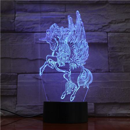 3D LED UNICORN