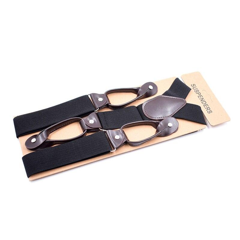 2018 Fashion Solid Color Suspenders Men Clips-on Braces Vintage Mens Suspender For Trousers Husband Male Suspensorio For Skirt