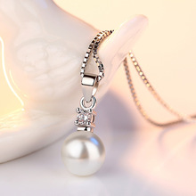 Drilling Of Zircon and Pearl Silver Pendant For Women