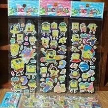 10PCS/lot 3D carton bubble sticker of Spongebob puffy stickers for kids birthday present,party favor