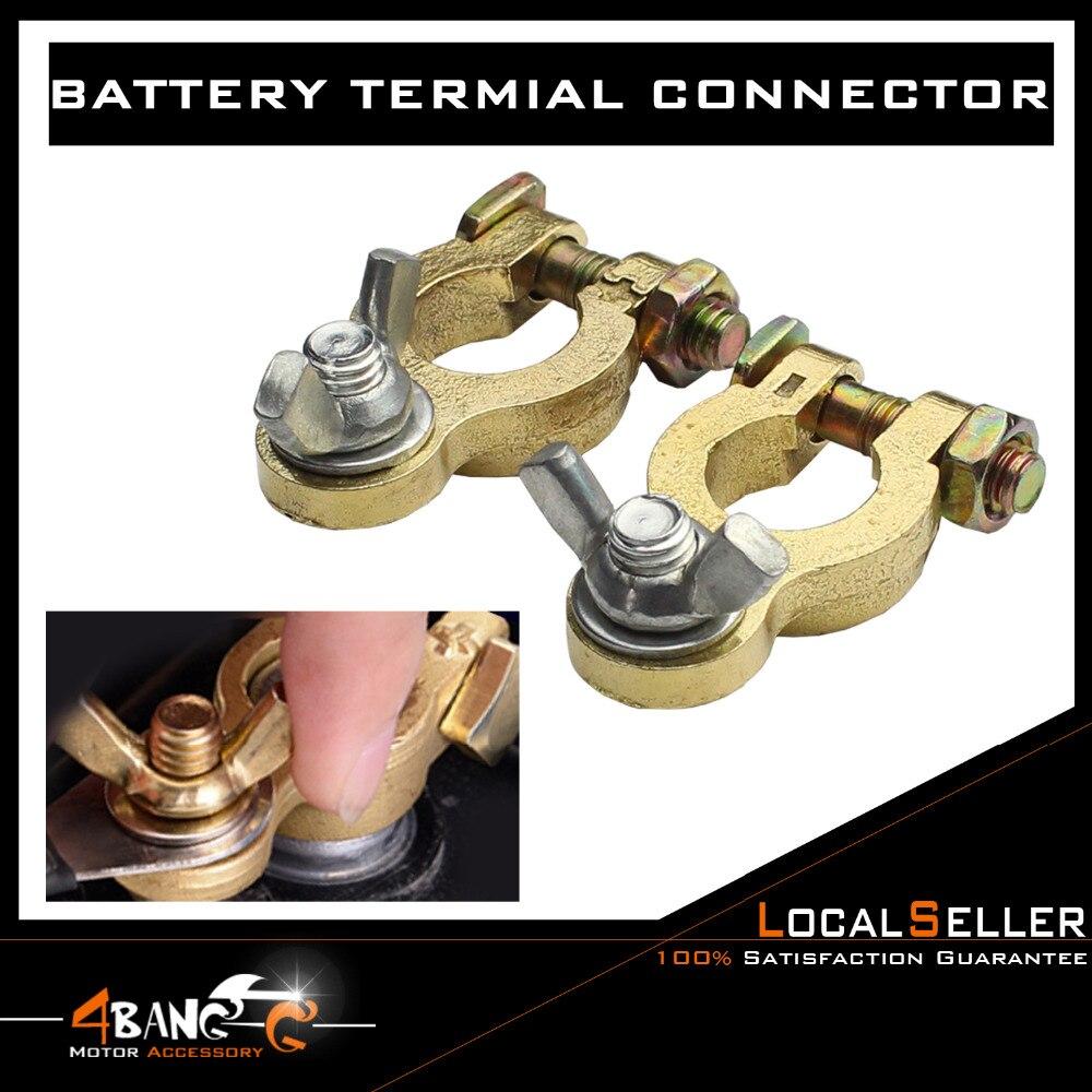 5 x Auto borne de batterie Pince clip connecteur Câbles Cuivre Pur Protecteur