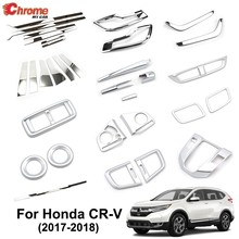 For Honda CR-V CRV 5th Gen 2017 2018 2019 Chrome Fog Light Air Vent Outlet Body Molding Trim Cover Strip Decoration Car Styling(China)