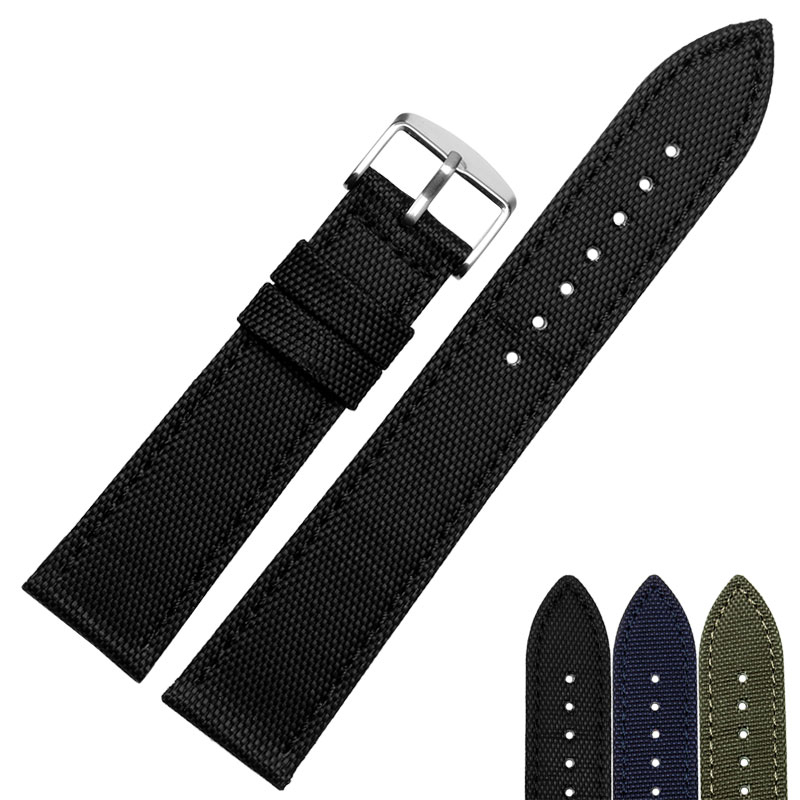HOT Selling High quality New Arrival Canvas Genuine leather inner Watchband Canvas Two Parts Watch Strap 18mm 20mm 22mm 24mm top fashion new arrival soft durable genuine cowhide leather men women watch strap 18mm 20mm 22mm rich color watchband