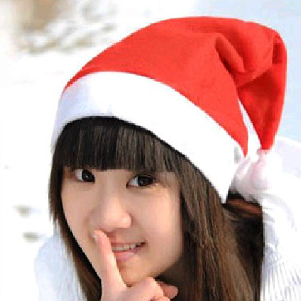 Hot sell New Years Christmas Party Santa Hat Red And White Cap Christmas Hat For Santa Claus Costume Christmas Decoration