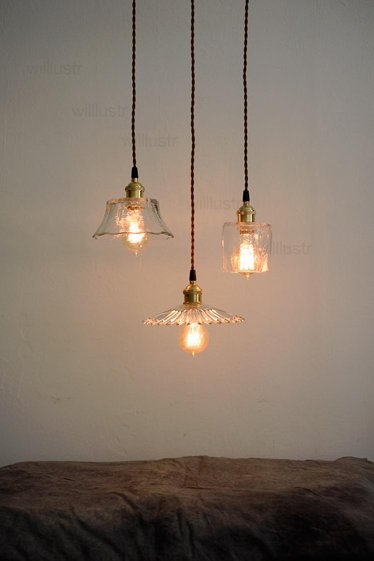Hammered Gl Pendant Lamp Handmade