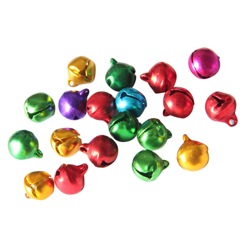 6MM 200 pcs/lot Mix Colors Loose Beads Small Jingle Bells Christmas Decoration Gift(mix color)