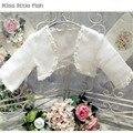 Frete grátis bolero casamento das meninas de Flor Meninas vestido de festa Meninas bolero bolero jackets para vestidos de noite