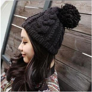New 2014 women's Winter Hat Beanie for women Outdoors Cap Knitting Hat for women Ear warm Cap Sport Hat Free shipping the new children s cubs hat qiu dong with cartoon animals knitting wool cap and pile
