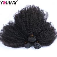 Human Hair Extensions Mongolian Afro Kinky Curly Virgin Hair Hair Weft 3 Bundles You May