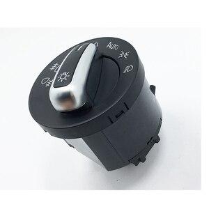 Image 5 - Interruptor de faro delantero cromado, para Golf Jetta MK5 MK6 GTI Passat B6 B7 CC Touran Tiguan, perilla de faro delantero antiniebla, 5ND 941 431 B