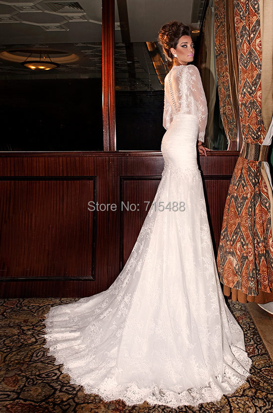 Mermaid long sleeve julie vino kleinfeld bridal gown imported from mermaid long sleeve julie vino kleinfeld bridal gown imported from china custom made cheap aliexpress in turkey wedding dresses in wedding dresses from junglespirit Images