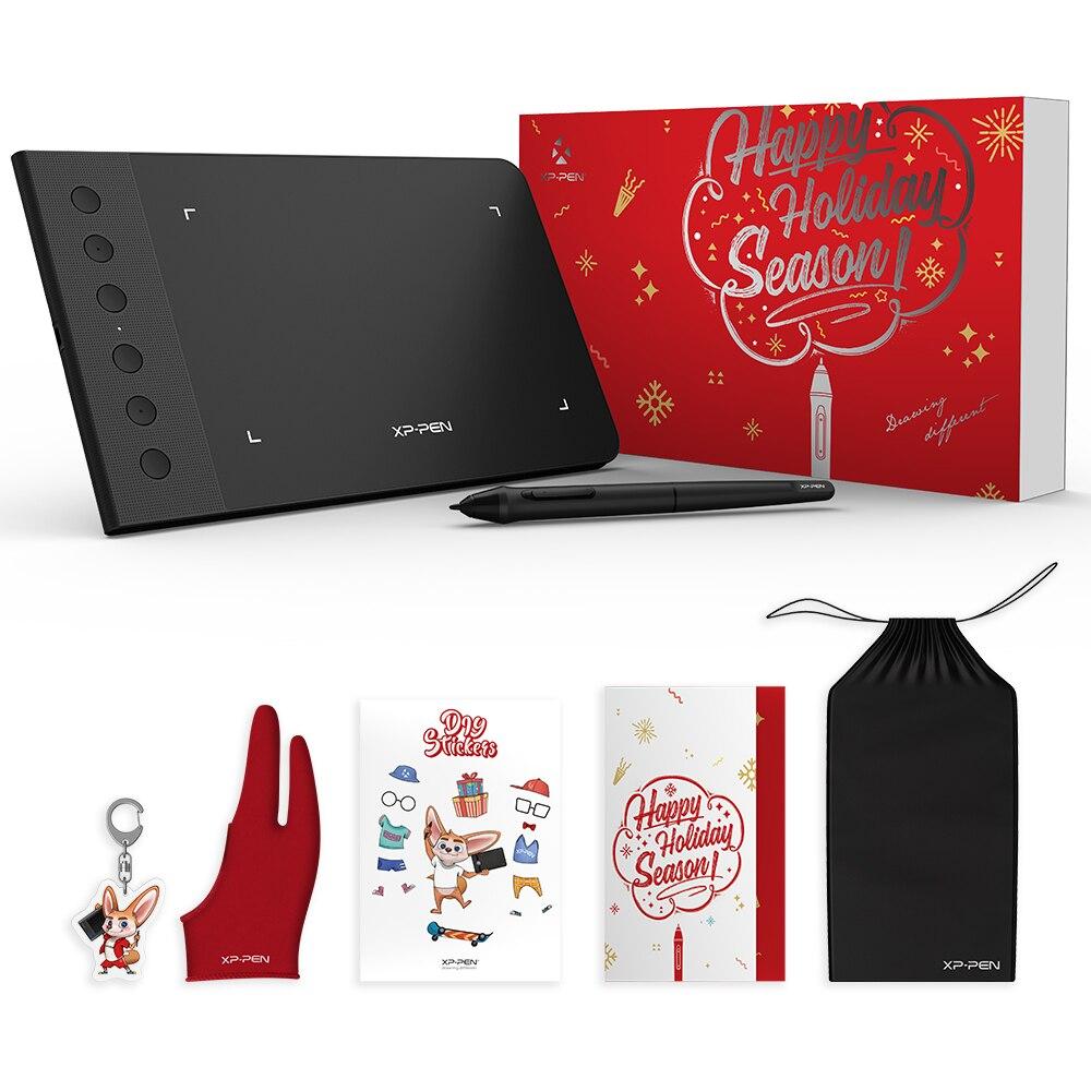 XP-Stift G640S Zeichnung Grafik Tablet Weihnachten paket geschenk 6x4 Zoll Grafik für OSU! Mit Batterie-Freies Stylus stift 8192
