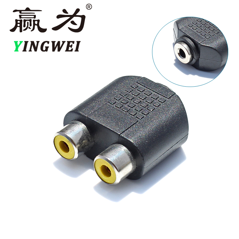 RCA Jack 3.5 mm AUX Female to 2 RCA Female Audio Adapter for Computer Speaker Earphone Headphone Stereo AUX Splitter Connector