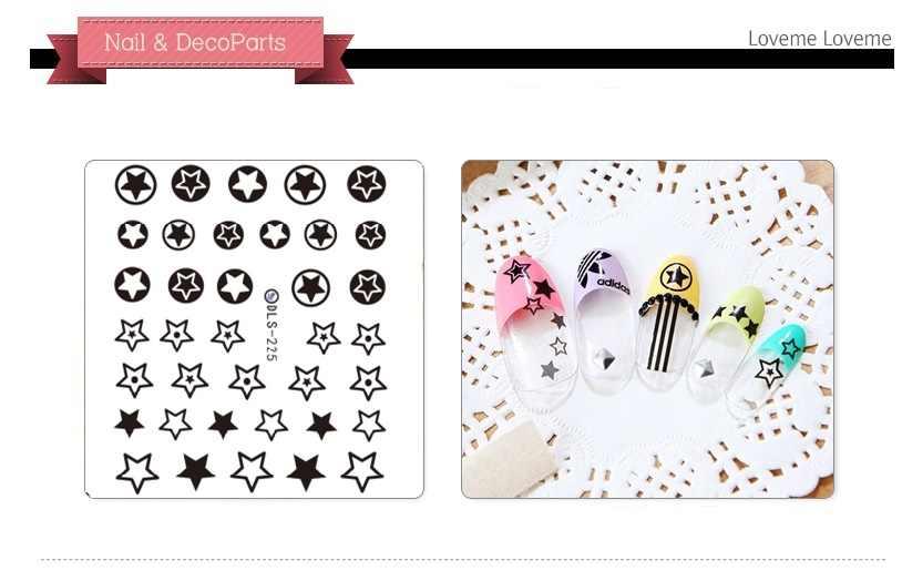 1 Lembar Fashion Kuku Seni Manikur Decal Dekorasi Desain Air Transfer Stiker untuk Kuku Tips Kecantikan
