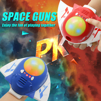 Spaceship Science Toys Lights and Sounds Space Fight Gun Stress Relief Toys Joke Electronic Funny Toys For Grownups Brinquedos!!