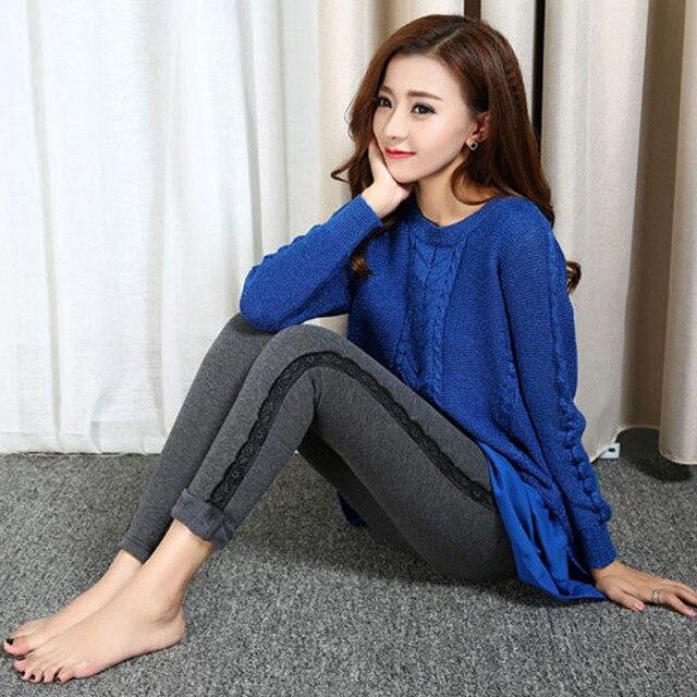 2016 зимние женская одежда плюс бархат утолщение брюки талии высокие упругие Корейской версии теплые черные брюки женские
