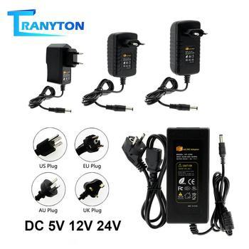 5V 12V 24V LED fuente de alimentación AC100-240V Adaptador convertidor 1A 2A 3A 5A 6A 8A 10A transformadores de iluminación LED controlador para tira de luces