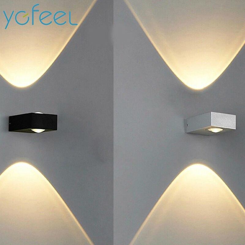 [YGFEEL] Wandleuchten Im Freien Wasserdichte IP65 6 Watt LED Graden Lampe/Indoor Korridor Treppe Loft Balkon Beleuchtung AC110V/220 V