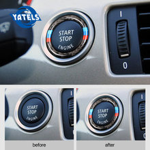 Nieuwe Voor bmw e90 e92 e93 Auto Motor Start Stop Contactsleutel Ring Stickers Carbon cirkel M Streep Trim 3 Serie auto sticker(China)