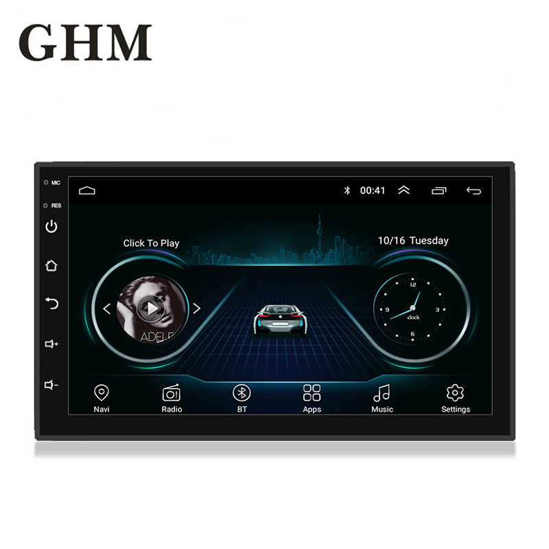 "2 DIN Android Amp Mobil Radio Multimedia 7 ""Universal HD Multimedia Player Menyentuh Layar Auto Audio Stereo Mobil Mp5 bluetooth Kamera"