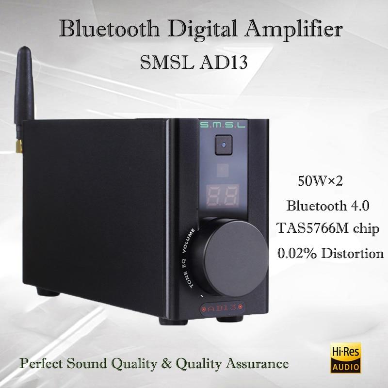 цена на SMSL AD13 hifi digital player amplifier audio TAS5766M sound amplifier bluetooth power amplifier preamp audio amplifiers