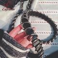Good quality trend punk fashion pu leather silver buckle ladies handbag accessories shoulder strap belt bag parts