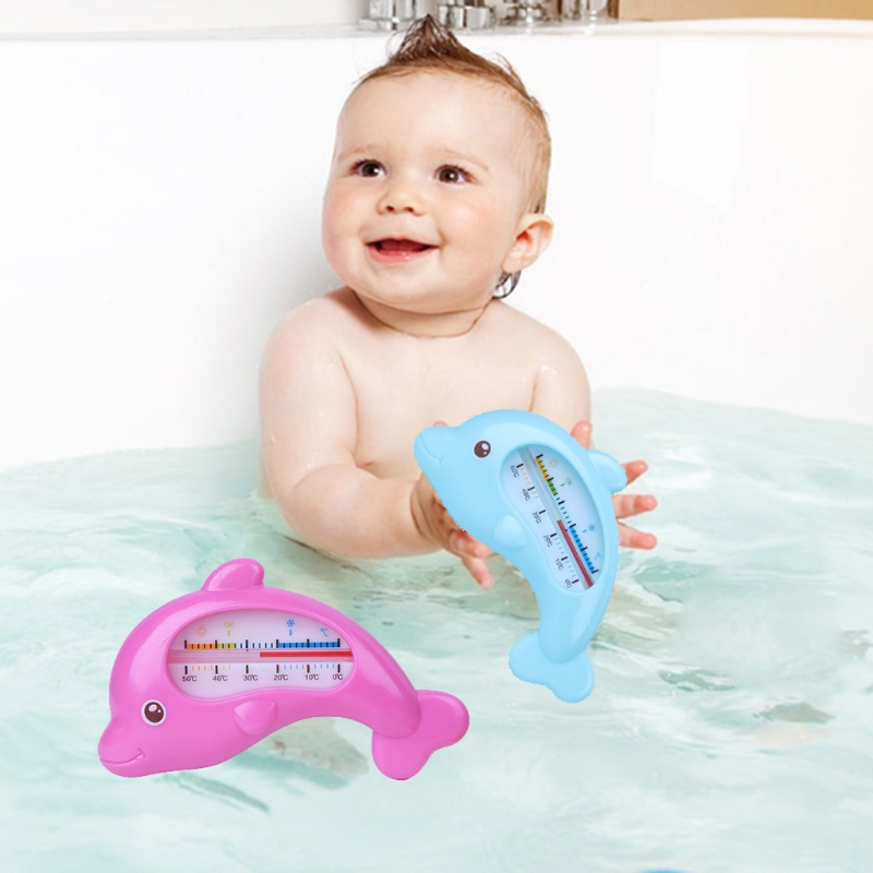 1PC Water Room Bath Thermometer Cute Cartoon Baby Bathing Dolphin Temperature Infant Kid Shower Toy Child Bath Shower Product