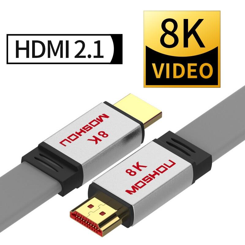HDMI 2,1 Cables MOSHOU amplificador de vídeo HDR HDCP2.2 con arco UHD 8K 4K 4320P 60 120Hz 48Gps de Audio Compatible para Apple Roku TV Rom Global OnePlus 8 Pro 5G Smartphone Snapdragon 865 de 6,78 ''120Hz líquido pantalla 48MP Quad cámaras IP68 30W de carga inalámbrico