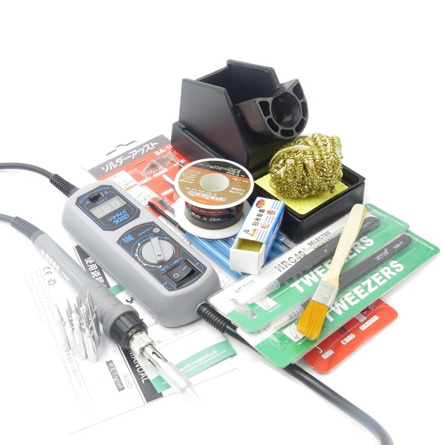 YIHUA 908D 65W Electric Soldering Iron SMD Solder Station Adjustable Thermostat Mini Pocket Iron Rework Repair