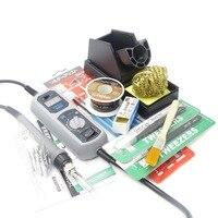 Yihua 908d 65 w ferro de solda elétrica estação de solda smd termostato ajustável mini bolso ferro retrabalho ferramentas reparo