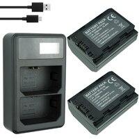 2x2280 mAh NP-FZ100 NPFZ100 NP FZ100 بطارية + LED شاحن USB مزدوج لسوني NP-FZ100 ، BC-QZ1 ، سوني a9 ، a7R III ، a7 III ، ILCE-9
