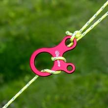 10 шт быстрое завязывание узлов палатка ветровая веревка Пряжка 3 Отверстия Противоскользящий походный, туристический, затягивающий крюк ветровые пряжки для веревки