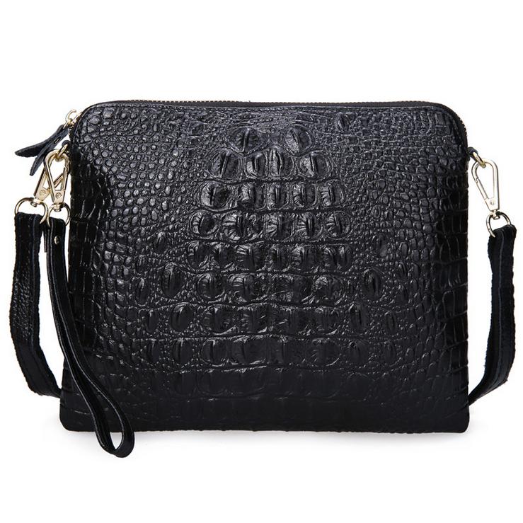 2016 Crocodile Women Shoulder Bag Small Crossbody Bag Split Cow Leather Women Handbag Casual Clutch Bag
