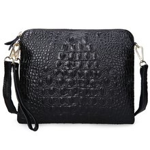 2016 Crocodile Women Shoulder Bag Small Crossbody Bag Split Cow Leather Women Handbag Casual Clutch Bag High Quality Purse Bolsa