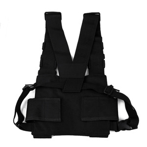 Image 3 - Chest Bag Universal Radio Carry Case for Walkie Talkie Chest Pocket Black Backpack for Radio Comunicador For Double Radios