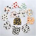 Outono Inverno Boutique 100% Algodão Impressão Chapéus Para Criança Recém-nascidos Do Bebê New Chegada de Malha Cachecol Animal Caps Skullies