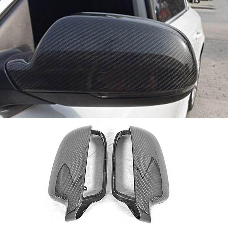 Новый углеродного волокна автомобиля боковой двери Зеркала заднего вида Replacment Обложка для Audi A4 B9 2013 2014