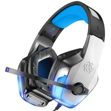 Hunterspider Gaming Headset for Xbox One PS4 PC Bass Surround Noise Cancelling Over Ear Game Headphones with Mic LED Light