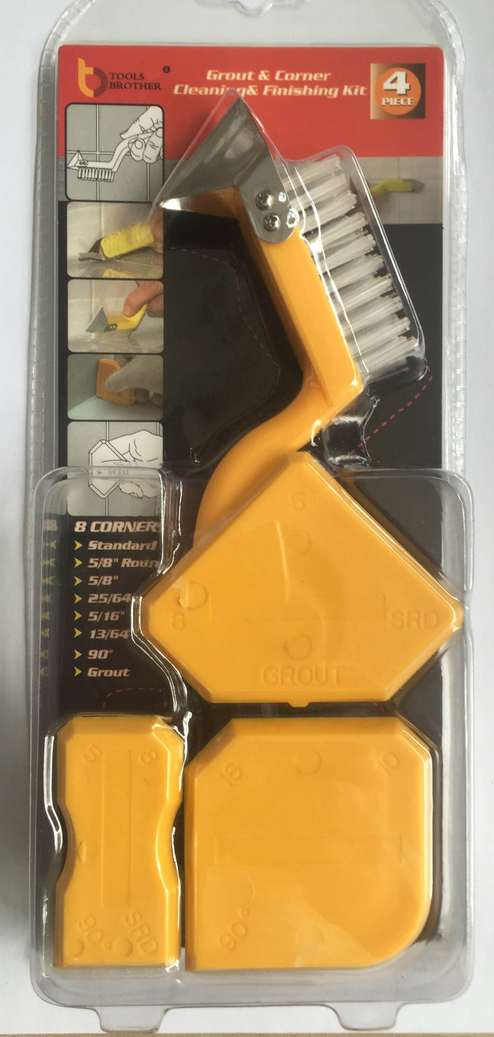 Free Ship Sealant Scraper Silicon Sealant Trowel Caulking Tool Kit 3pcs Scrapers & Brush&Stainless Steel Removal Tool As Picture