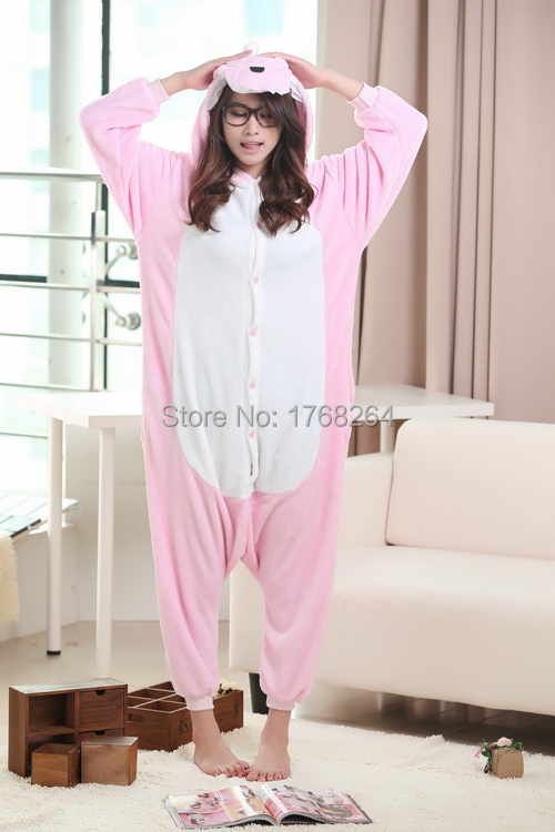 Cosplay Thick long-sleeved flannel animal cartoon dinosaur piece pajamas coral velvet tracksuit winter men and women couple