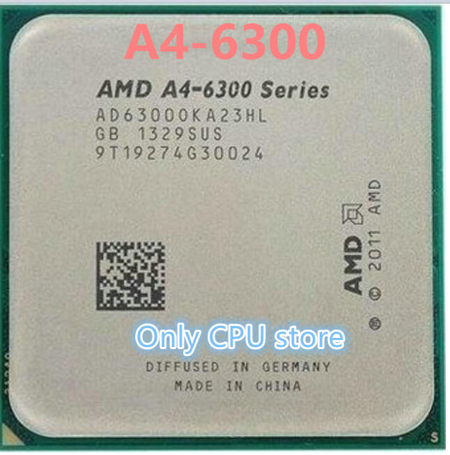 AMD Processor-Pieces A4-6300 FM2 CPU Integrated-Graphics Dual-Core 65W APU 1MB