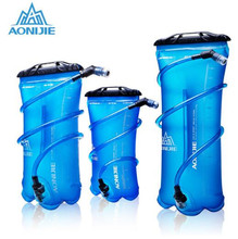лучшая цена AONIJIE Outdoor Sport Water Bag Foldable PEVA Sport Hydration Bladder For Camping Hiking Climbing Cycling Running 1.5L 2L 3L