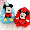 Mickey E Minnie Mouse Crianças dos desenhos animados do Luxuoso Sacos Bonito Saco Do Miúdo Da Escola do jardim de Infância Mochila Transporte da gota