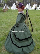 Custom Made1800s Victorian Gown 1860s Civil War Day Dress 1864 Bodice Dress/Party Costume