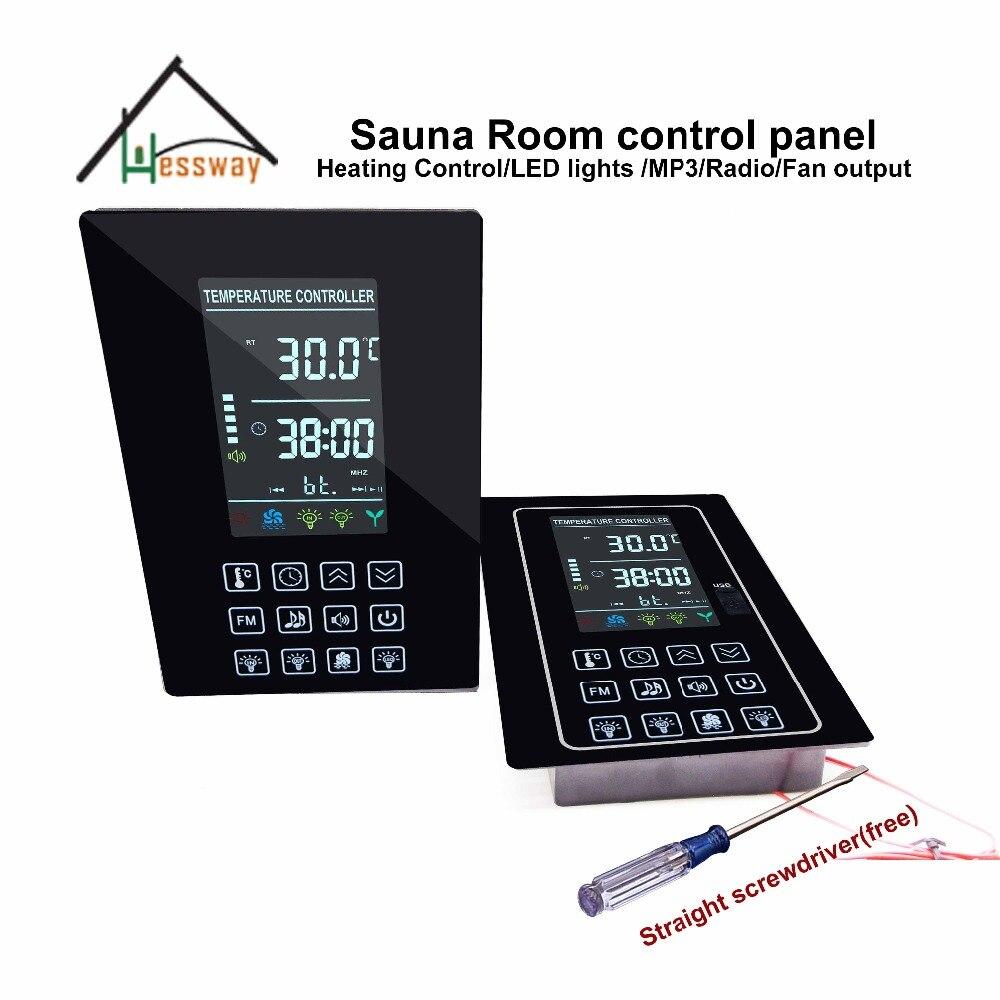 Mp3, FM, light,fan digital sauna heater controller for dry sauna roomMp3, FM, light,fan digital sauna heater controller for dry sauna room