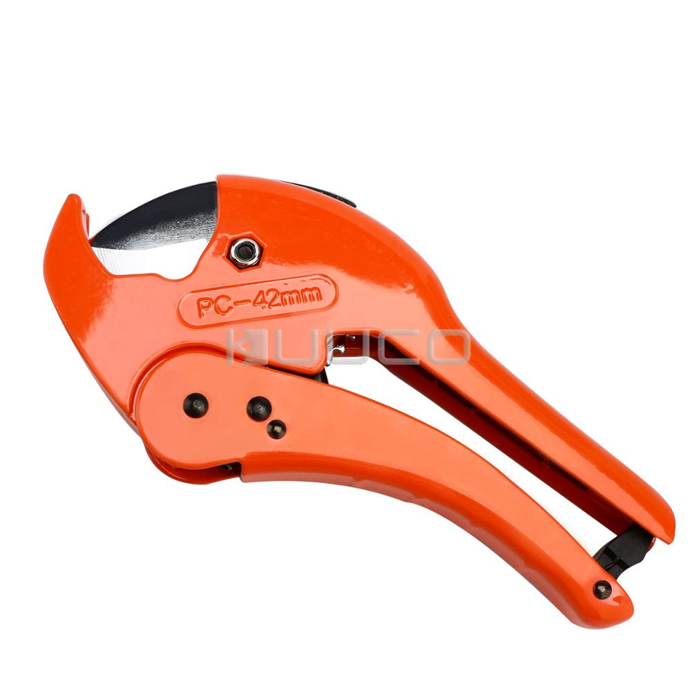 Ratcheting Pipe Cutter/Tube Cutter/Professional Tools for PE PVC PPR Aluminum Plastic Pipe Water Tube Tubing Hose etc new high quality 42mm pvc pipe plumbing tube plastic hose cutter pliers tool ratcheting type