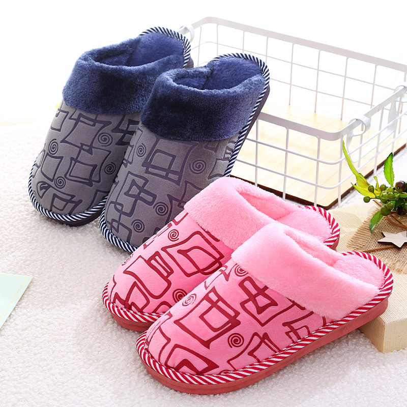 Women House Slippers Winter Warm Cotton Memory Foam Shoes Women Fur Slippers Indoor Outside Lovers Couples Zapatillas Mujer e lov unique design taurus horoscope luminous canvas shoes women diy graffiti couples lovers casual flats zapatillas mujer