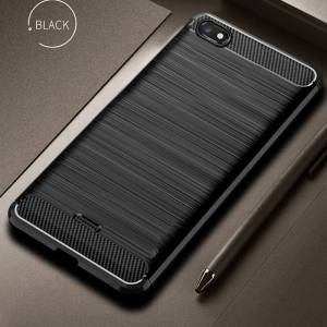 Xiaomi Redmi Bumper Phone case For Redmi 6A Silicone Case Soft Carbon Fiber Back